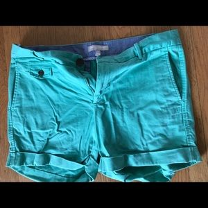 Banana republic sea green shorts